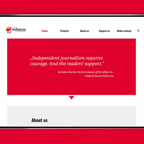 Gazeta Wyborcza's Foundation website